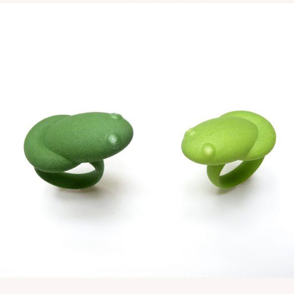 Frog rings by Birgit Laken