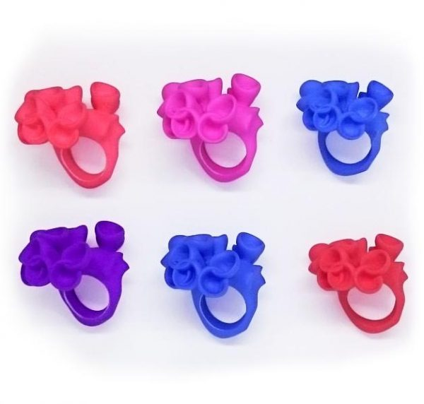 Bud rings in various colours