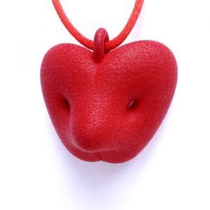 Birgit Laken Bir-pendant, red