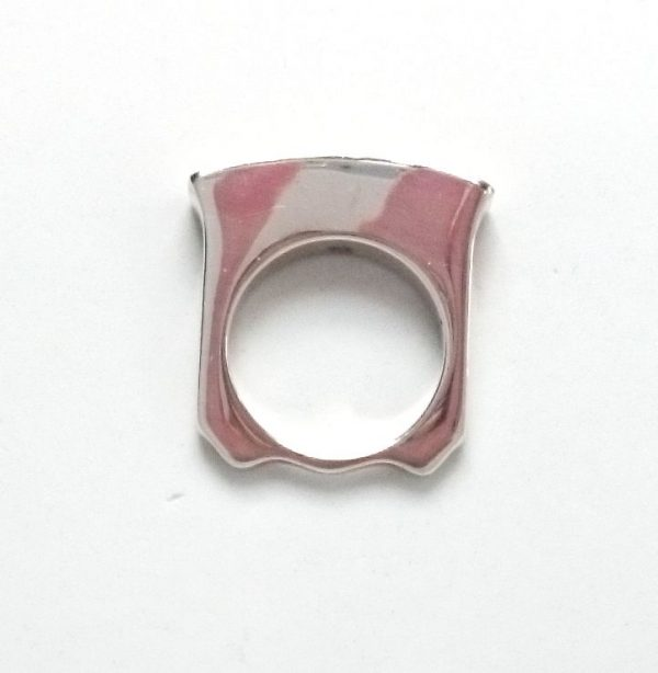 Ring Shank in silver for Ann Marie Shillito's Variations Ring designs: ring the changes with different colouted tops