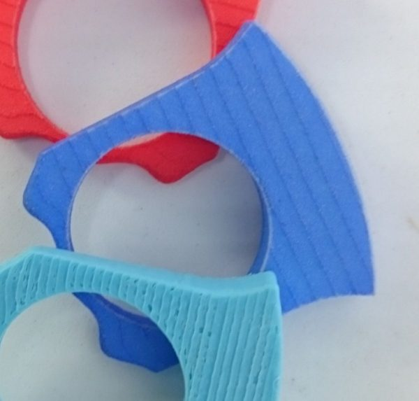 Variations Ring Shank in medium blue dyed polyamide, 3D printed, to mix and match with different ring tops in this collection