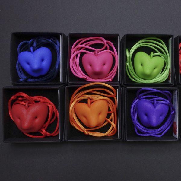 Bir pendant inPink by Birgit Laken, 3D printed