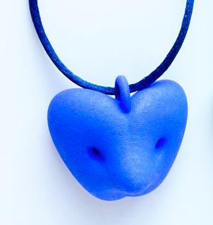 Birgit Laken_ Bir Pendant blue