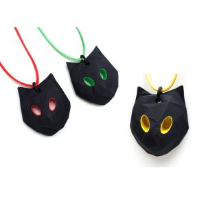 Big Cat pendants by Birgit Laken, choose different eye colours!